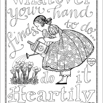 Do Your Work Heartily (Coloring Page)