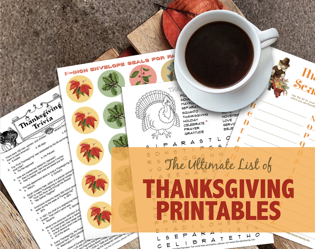 Ultimate Collection of Thanksgiving Printables