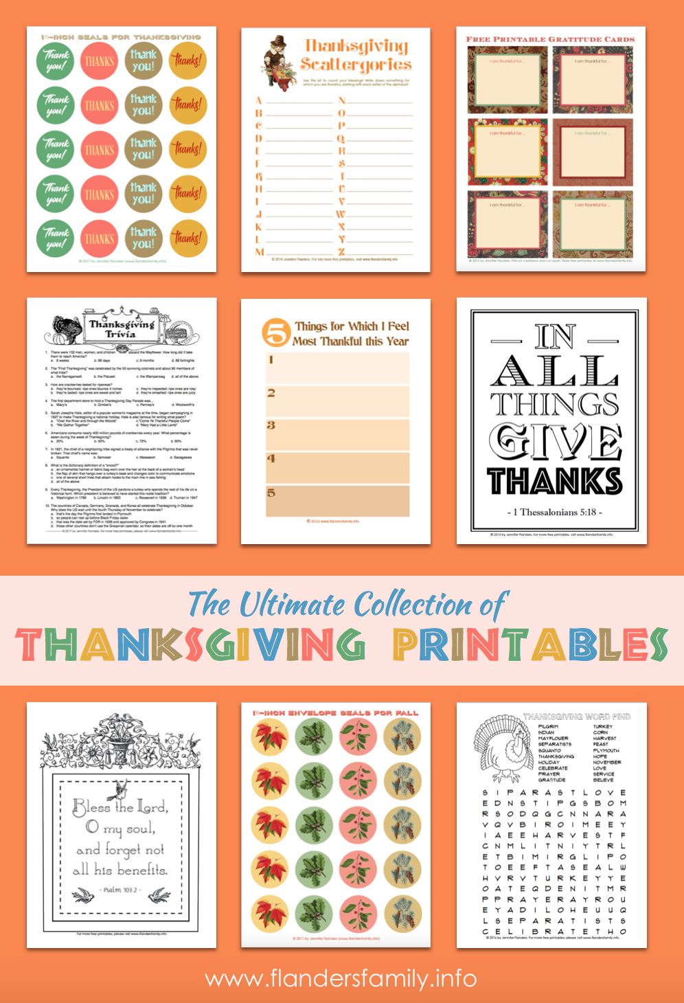 Ultimate Thanksgiving Printable Collection
