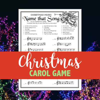 """Name That Song"" Christmas Game"