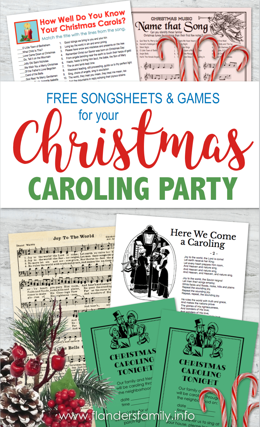 Christmas Caroling Party Resources