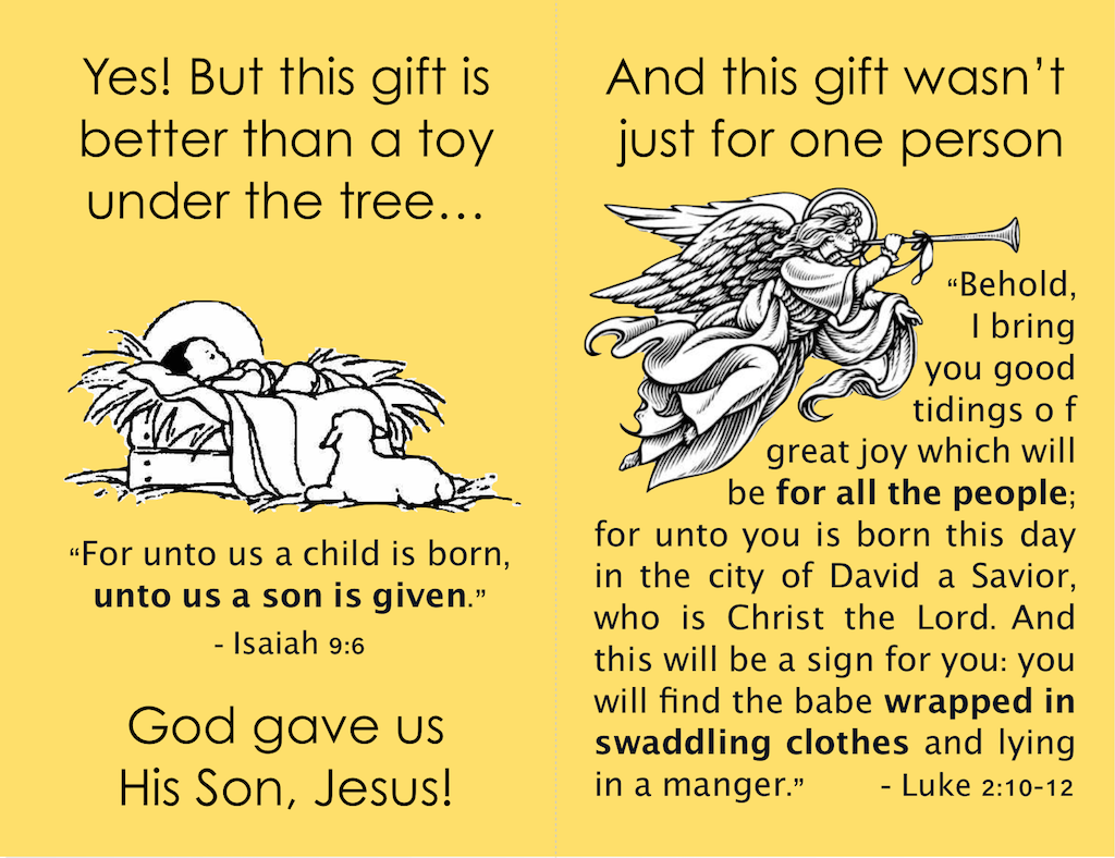 photo about Free Printable Gospel Tracts named Xmas Gospel Tracts (Free of charge Printables) - Flanders Spouse and children