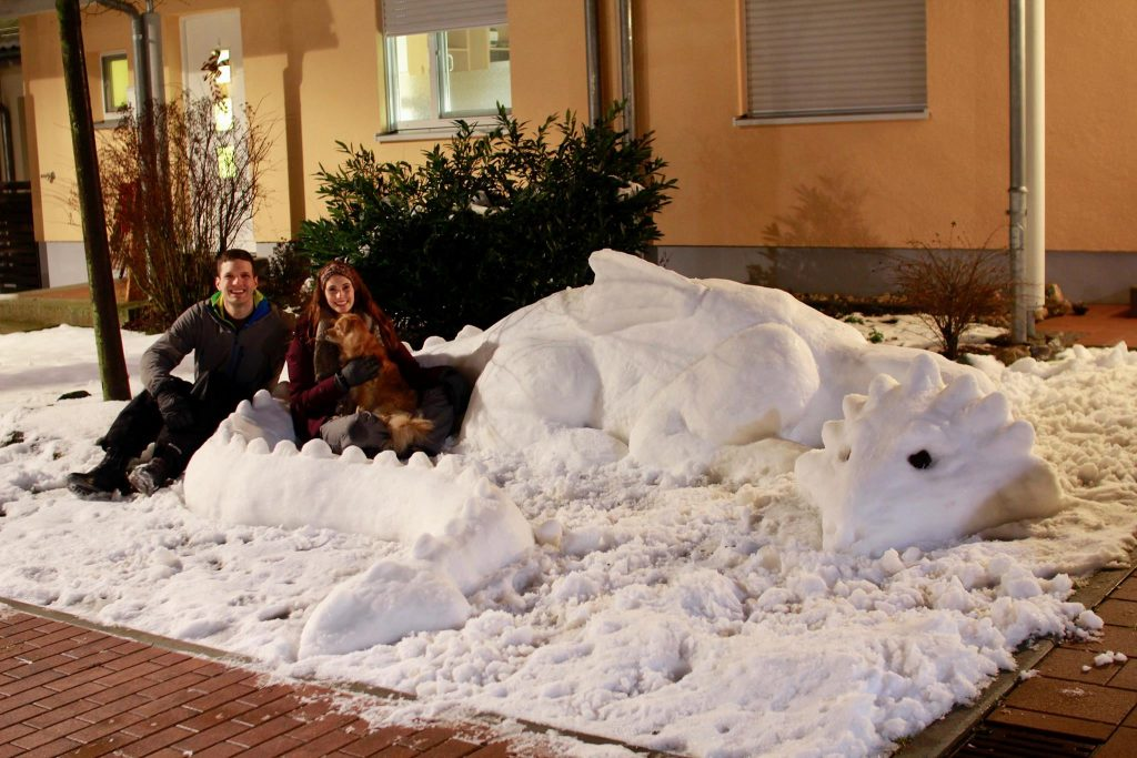 David and Bonnie with their Snow Dragon