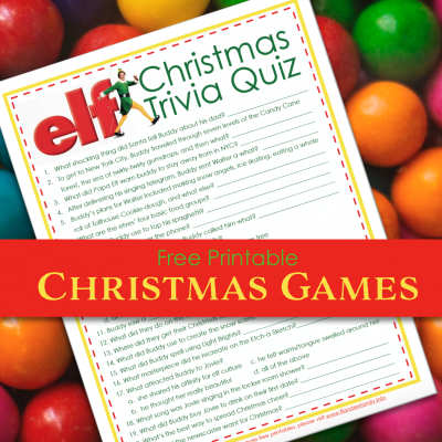 Elf Christmas Trivia Game (Free Printable)