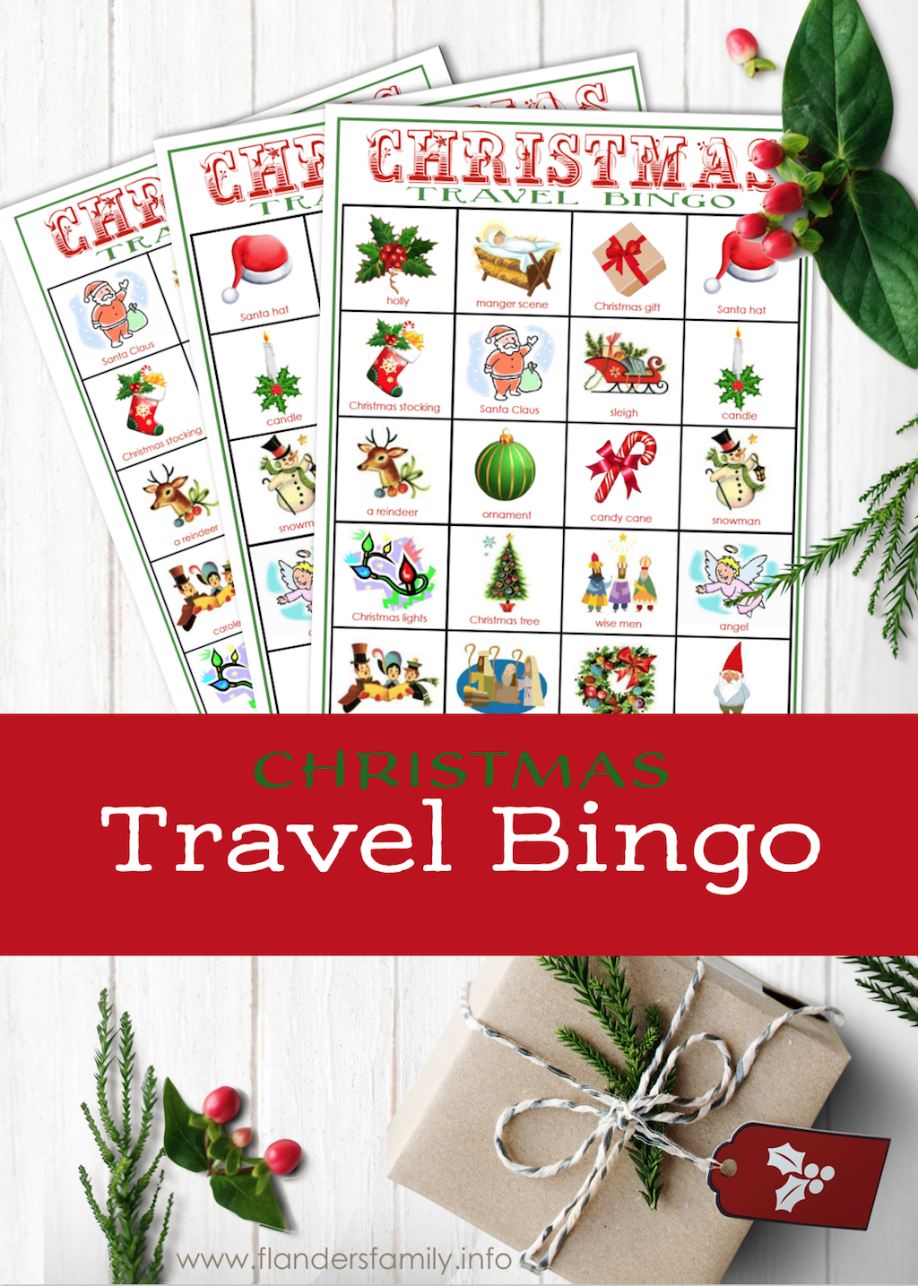 Christmas Travel Bingo Cards