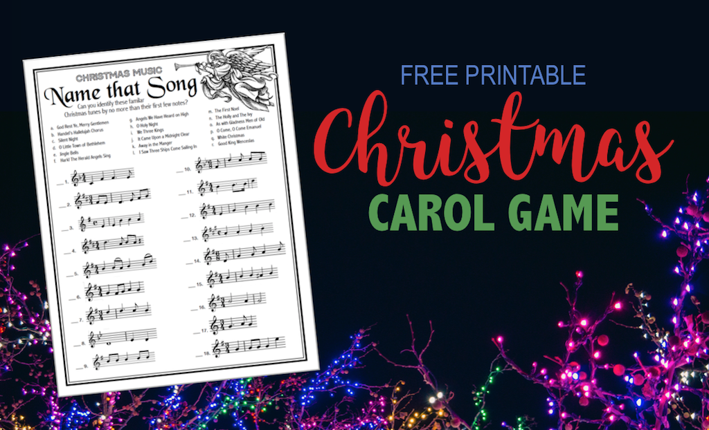 Name that Christmas Song - Free Printable Game