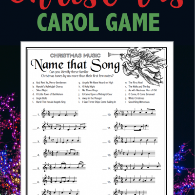 Name That Song (Free Printable Christmas Game)