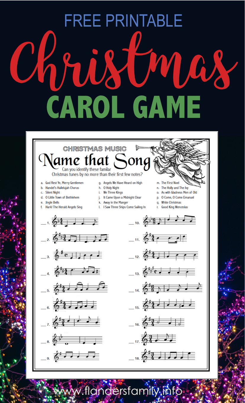 name that song fill in the blank free printable christmas game