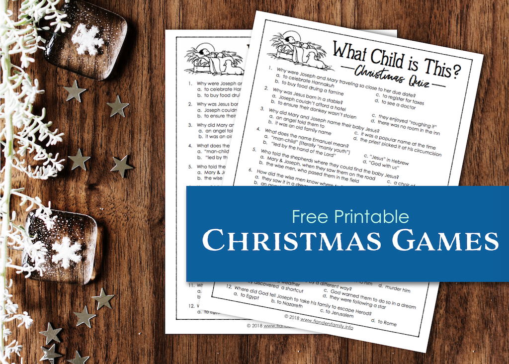 What Child is This Printable Christmas Quiz