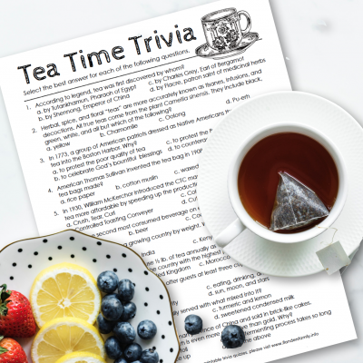 Hot Tea Month: Tea Time Trivia Quiz