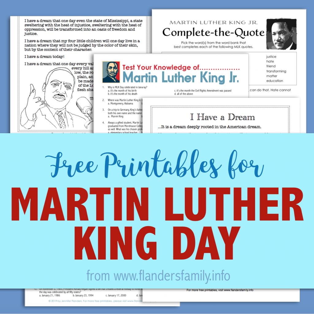 Free MLK Day Printables