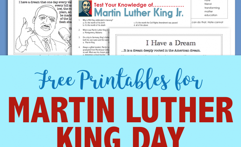 Free MLK Day Printables