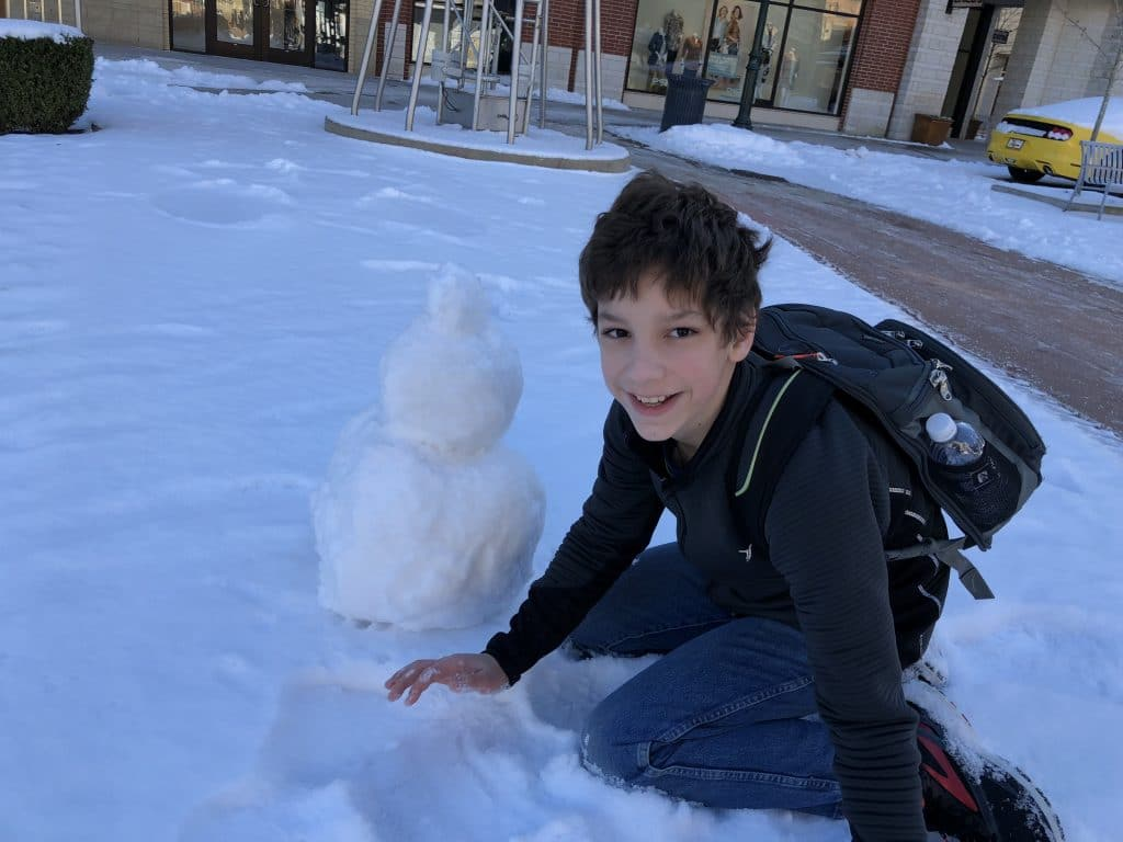Daniel in the Snow
