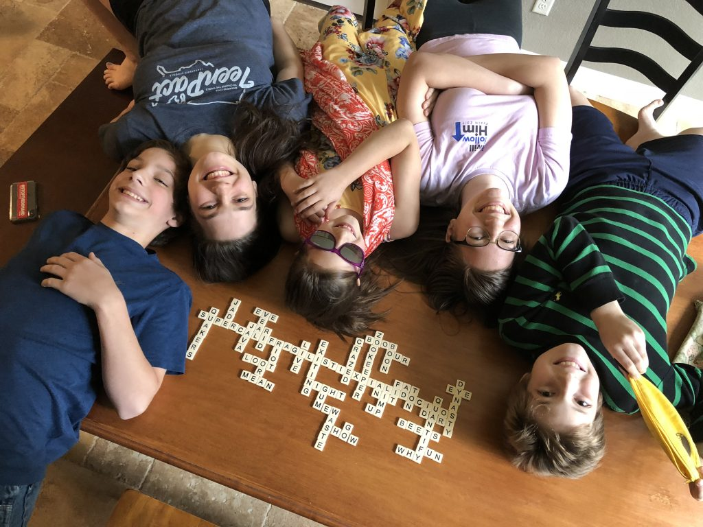 Friendly Family Game of Bananagrams