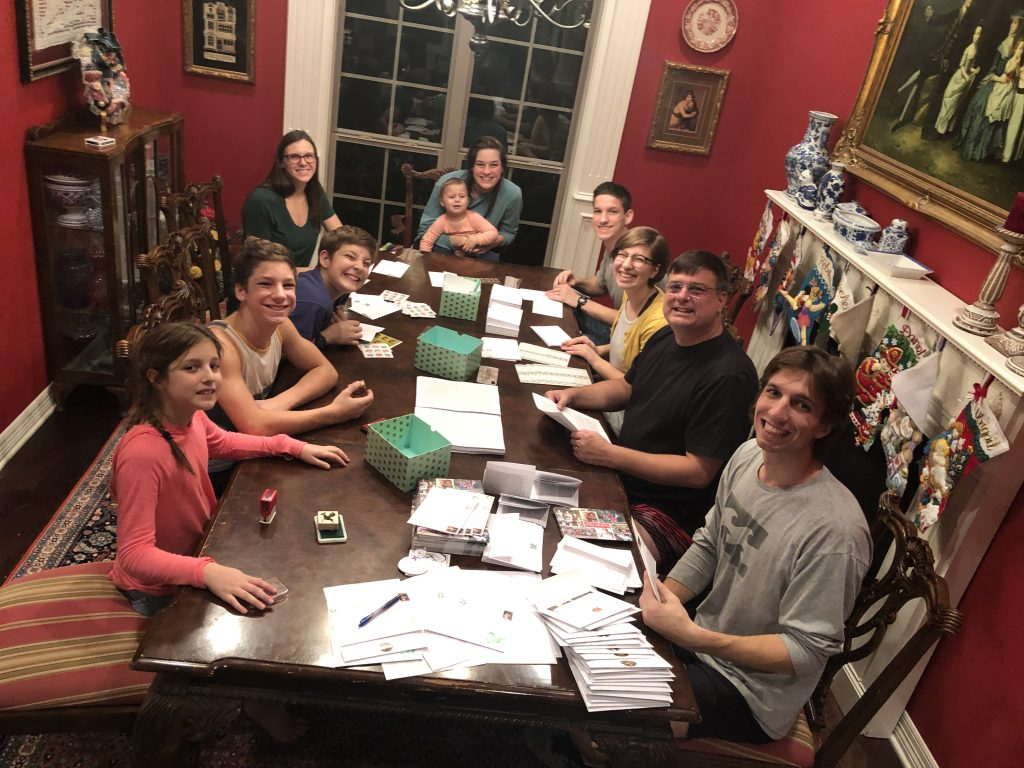 Christmas Card Assembly Line