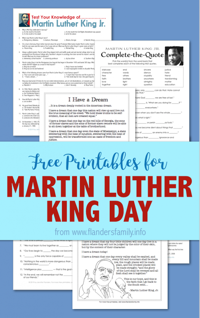 Free Printables for Martin Luther King Day