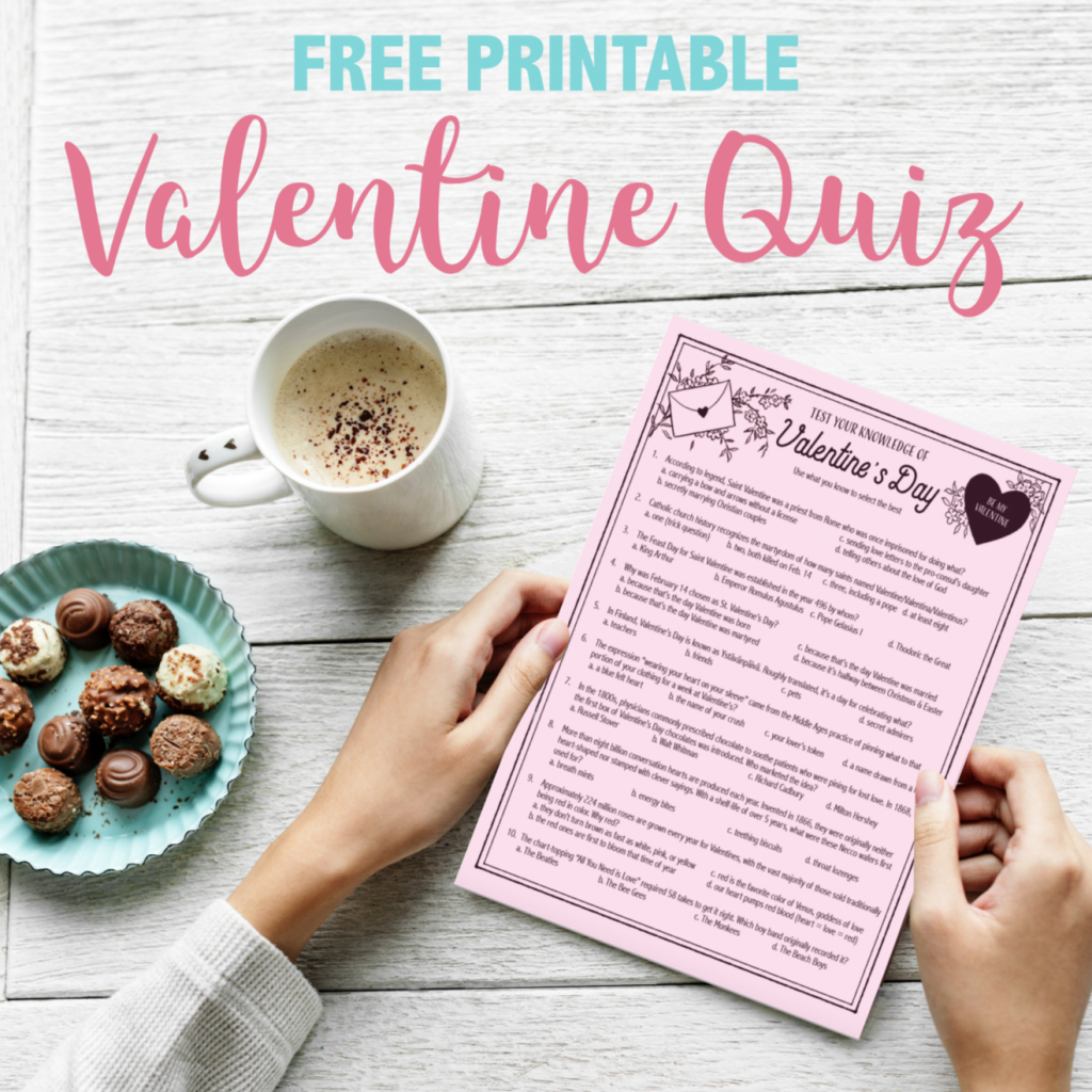 Valentine's Day Quiz - Free Printable