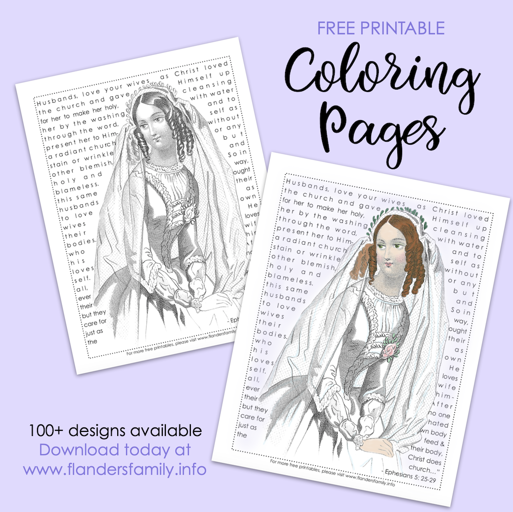Bride of Christ Coloring Page