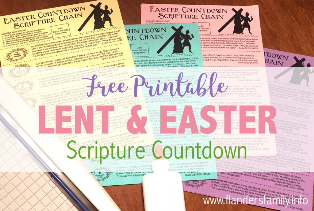 Free Easter Countdown Chain for Lent