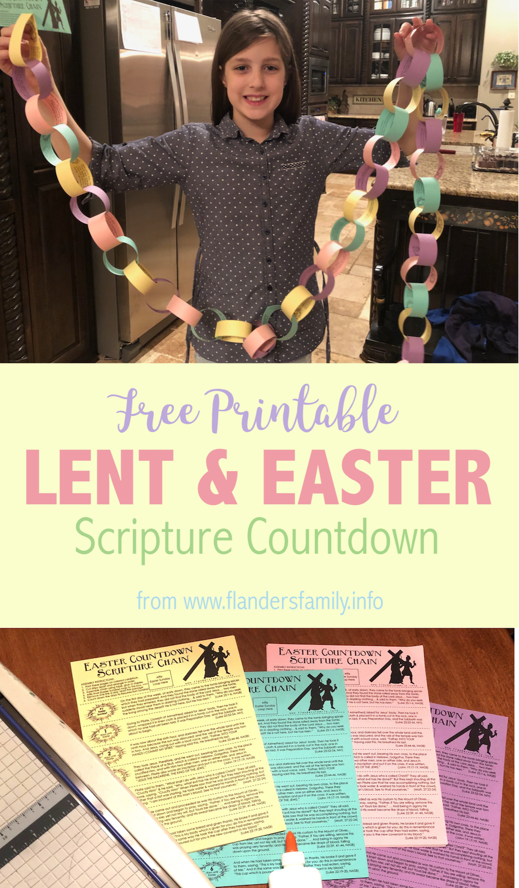 Easter and Lent Scripture Chain - Free Printable
