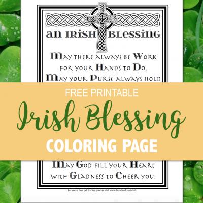An Irish Blessing (Free Coloring Page)