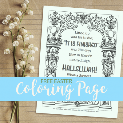 It Is Finished! (Free Easter Coloring Page)