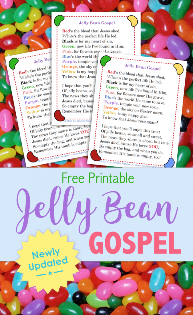 Jelly Bean Gospel | free printable from www.flandersfamily.info