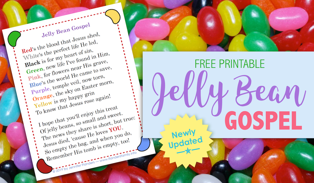 image regarding Pumpkin Gospel Printable titled Jelly Bean Gospel (No cost Printable) - Flanders Loved ones Homelife