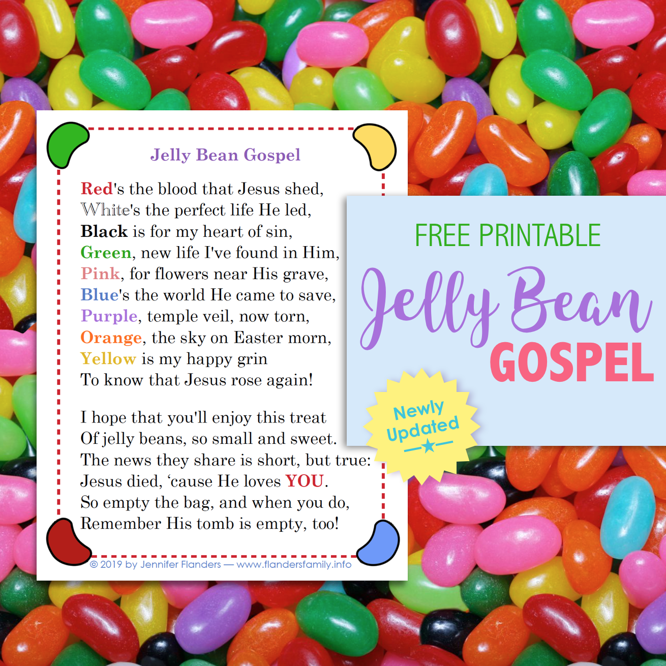 picture regarding Pumpkin Gospel Printable titled Jelly Bean Gospel (Cost-free Printable) - Flanders Family members Homelife