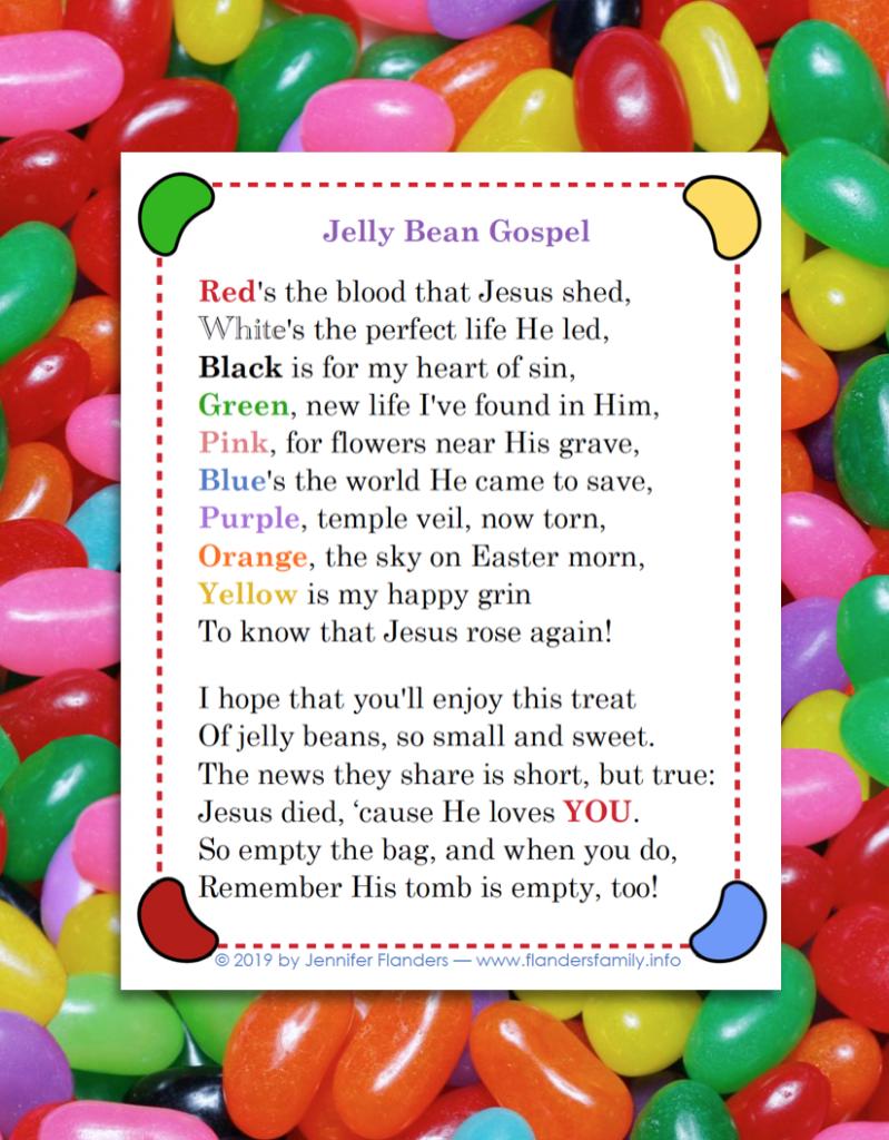 "Free ""Jelly Bean Gospel"" Printable"