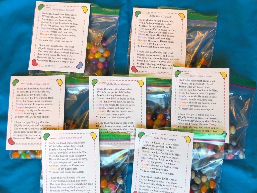 Jelly Bean Gospel Bags