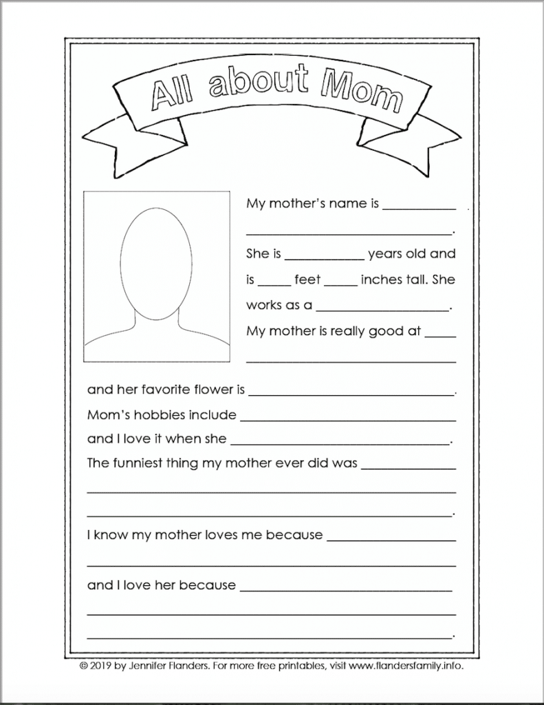 Free Mother's Day printables from flandersfamily.info