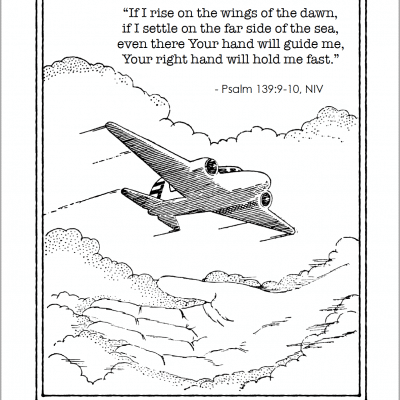 God Holds Me Fast (Free Coloring Page)