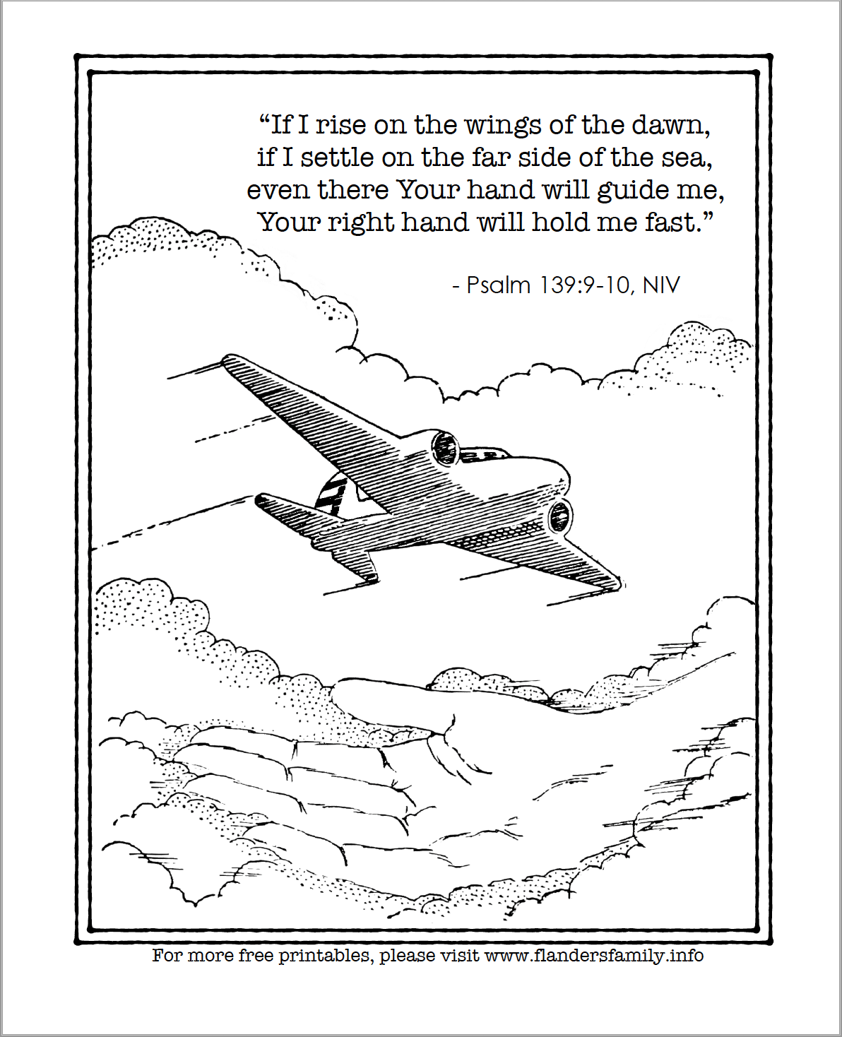 Coloring Page - Psalm 139:9-10