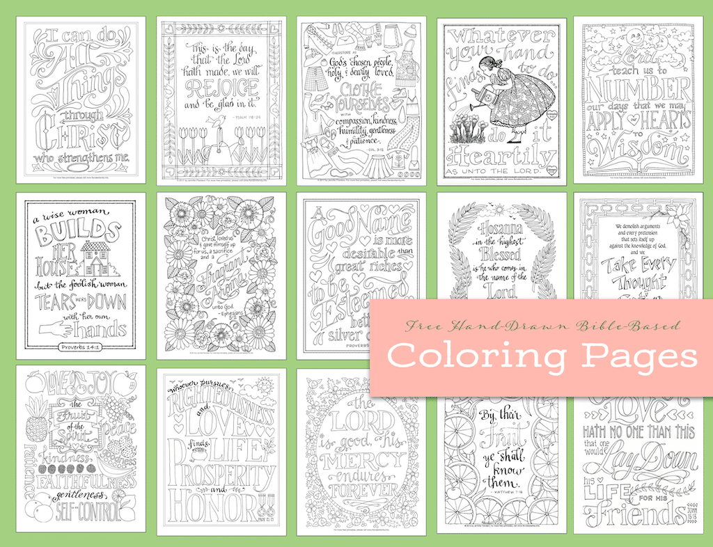 Free Hand-Drawn Coloring Pages