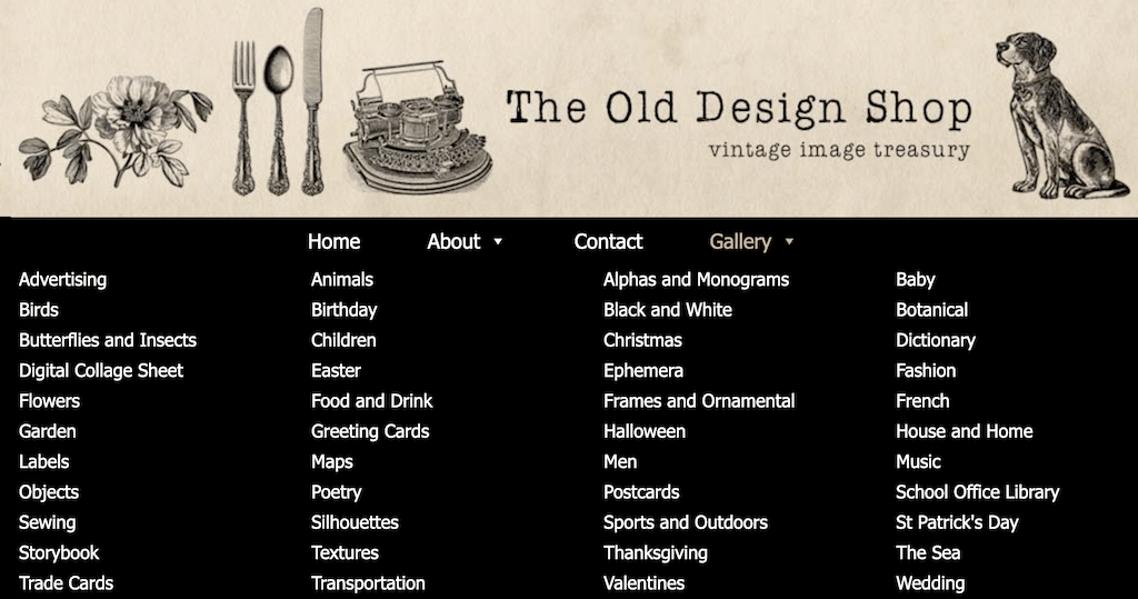 Old Design Shop - vintage clipart source