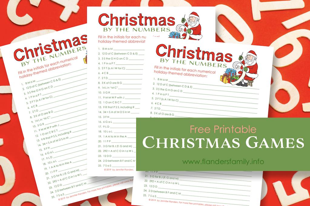 Free Christmas Quiz Printables