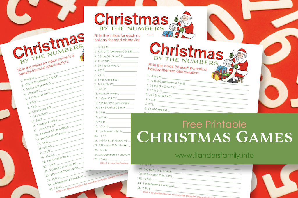 Free Christmas Quiz Printables
