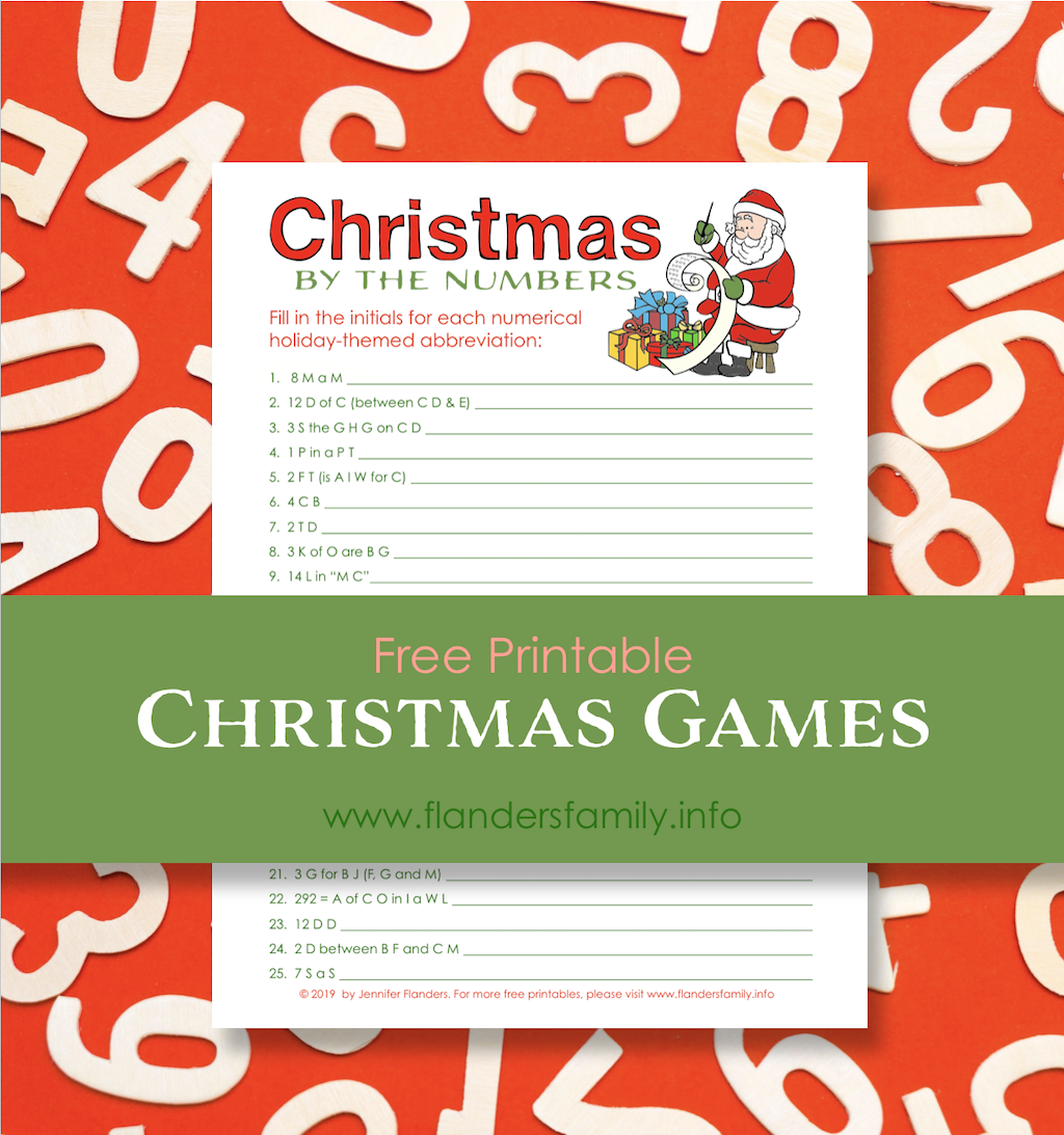 Free Christmas Game Printables