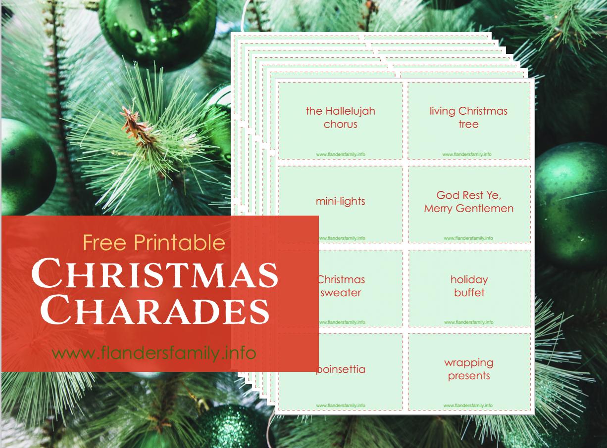 Christmas Charades Free Printable Flanders Family Homelife