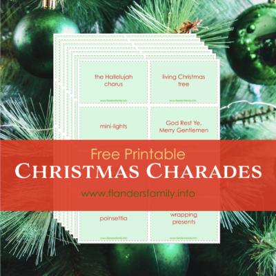 Christmas Charades (Free Printable)
