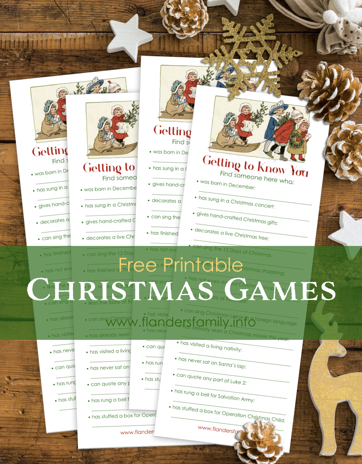 Getting to Know You Christmas Game