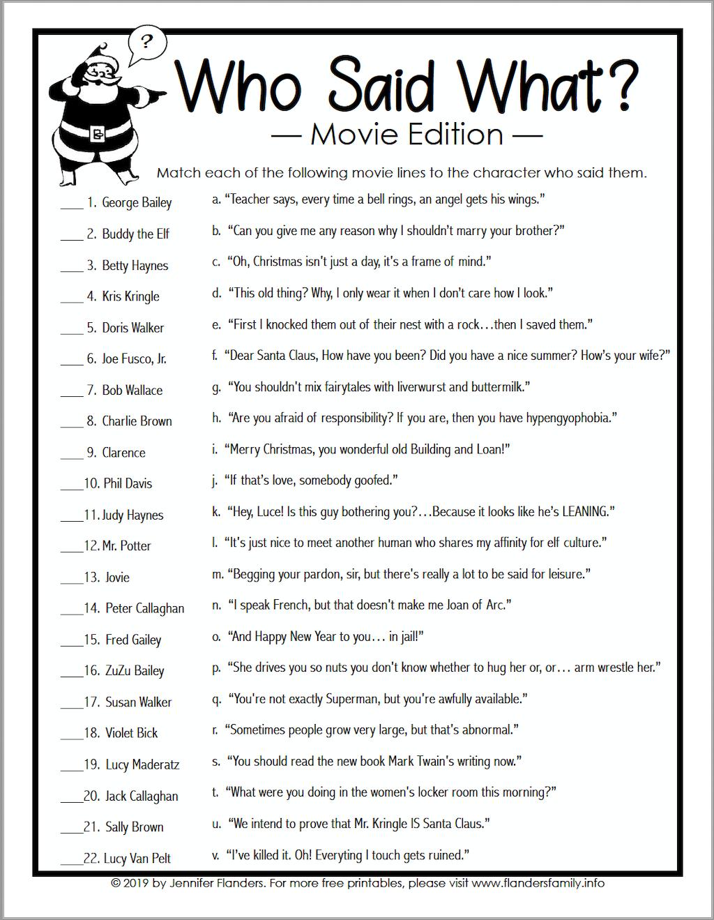 Who Said What Movie B&W
