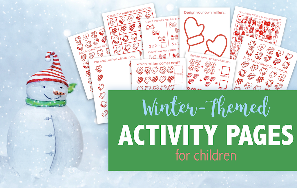 Winter-Themed Activity Pages for Kids
