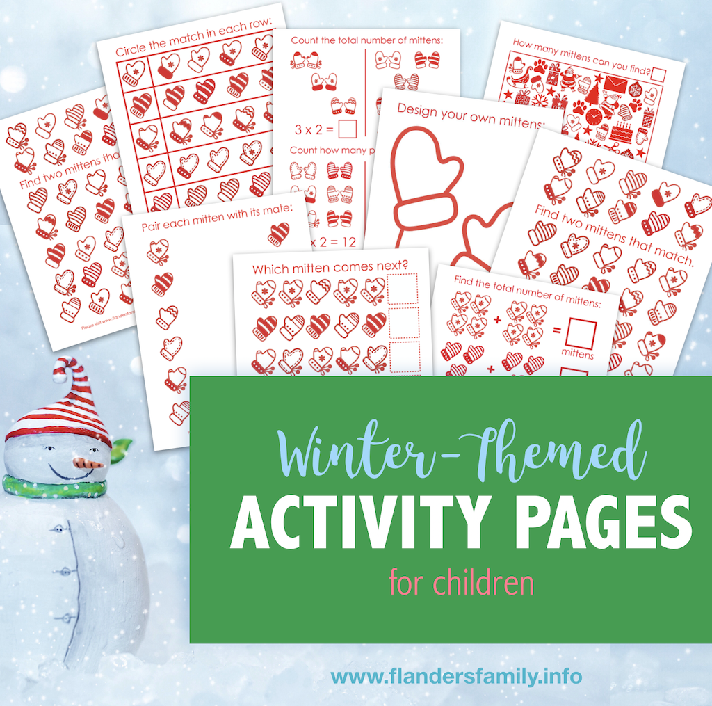 Winter-Themed Activity Pages for Grade Schoolers