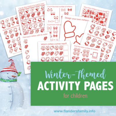 Free Winter-Themed Activity Pages