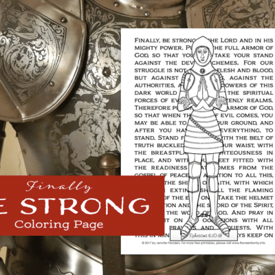 Be Strong Coloring Page