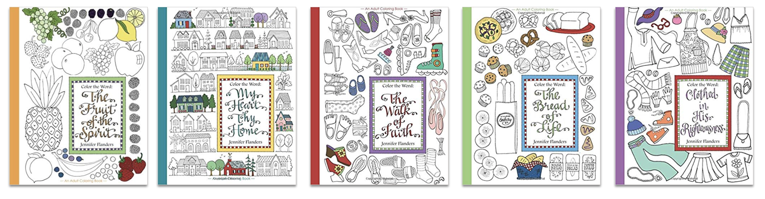 Color the Word Coloring Books by Jennifer Flanders
