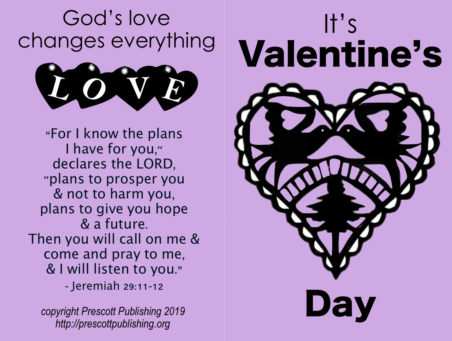 Tract - Valentine's Day - Let Jesus In - Cover