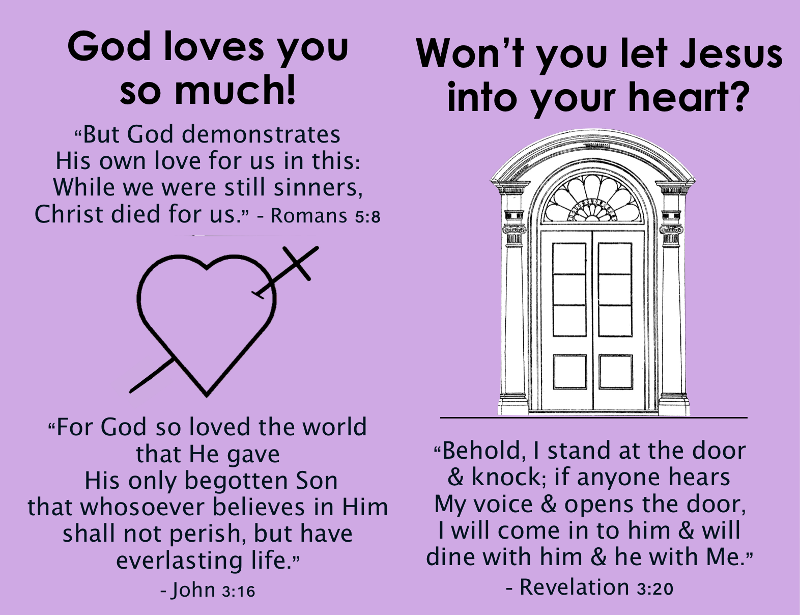 Tract - Valentine's Day - Let Jesus In - Inside
